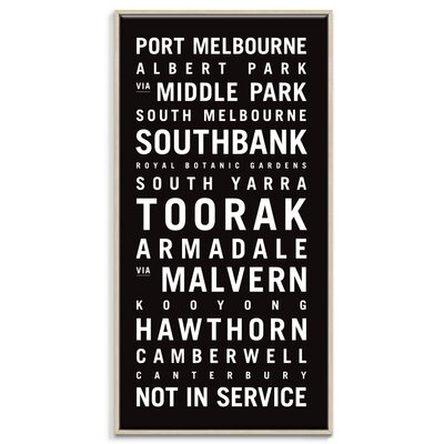 Artist Lane 'Melbourne 2' by Tram Scrolls Typography Wrapped on Canvas