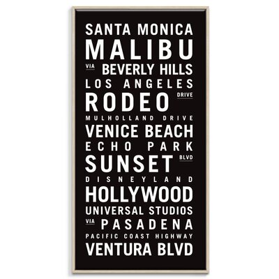 Artist Lane 'Los Angeles' by Tram Scrolls Framed Typography on Wrapped Canvas