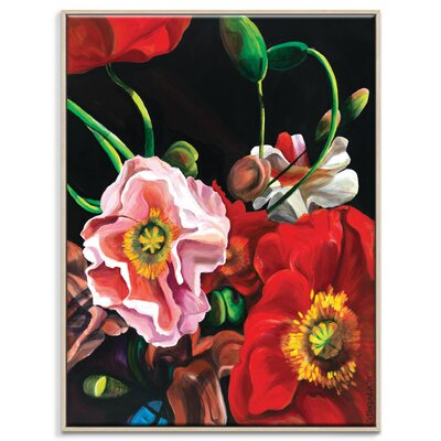 Artist Lane 'Poppies' by Shani Alexander Framed Art Print on Wrapped Canvas