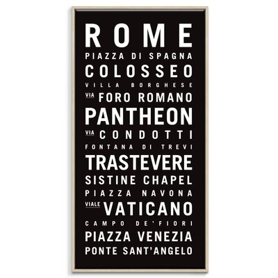 Artist Lane 'Rome' Framed Typography on Wrapped Canvas