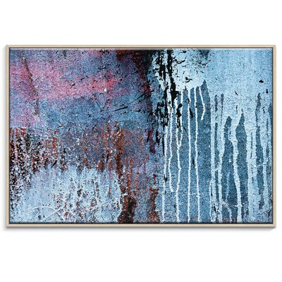 Artist Lane 'Dry Dock Abstract 04' by Bente Andermahr Framed Graphic Art on Wrapped Canvas
