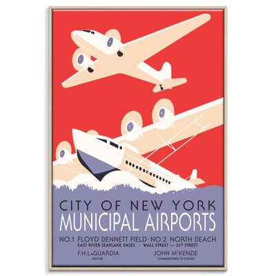 Artist Lane NYC Airports' Vintage Advertisement Unwrapped on Canvas