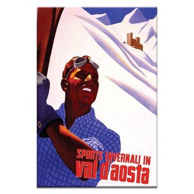 Artist Lane 'Ski Italy' Vintage Advertisement on Wrapped Canvas