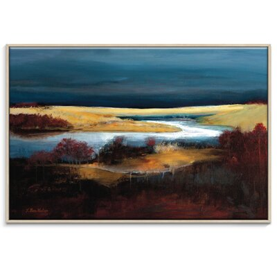 Artist Lane 'Storm Brewing' by Lydia Ben-Natan Framed Art Print on Wrapped Canvas