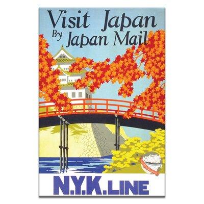 Artist Lane 'Visit Japan' Vintage Advertisement on Wrapped Canvas