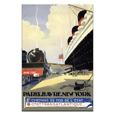 Artist Lane 'The French Line' Vintage Advertisement on Wrapped Canvas