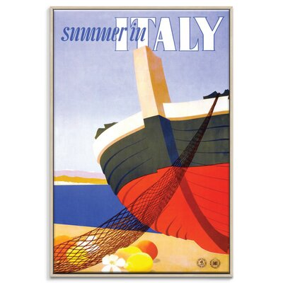Artist Lane 'Summer in Italy' Framed Graphic Art on Wrapped Canvas