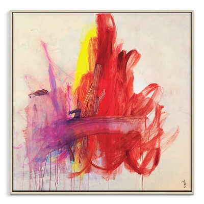 Artist Lane 'Red Shift' by Mario Burgoa Framed Art Print on Wrapped Canvas