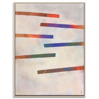Artist Lane 'Writings' by Mario Burgoa Art Print Wrapped on Canvas