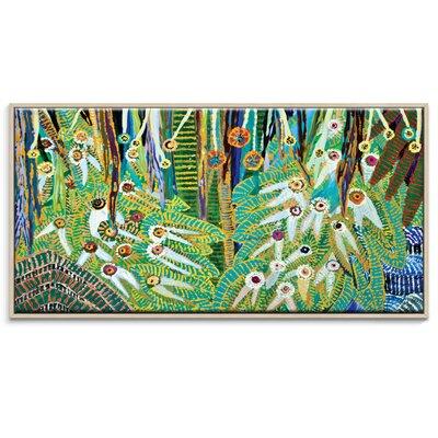 Artist Lane 'Twenty Eyes' by Lia Porto Framed Art Print on Wrapped Canvas