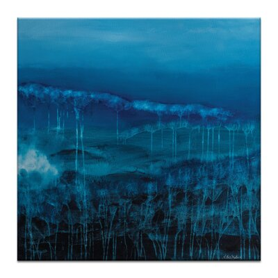 Artist Lane 'Fossil Blues' by Lydia Ben-Natan Art Print Wrapped on Canvas