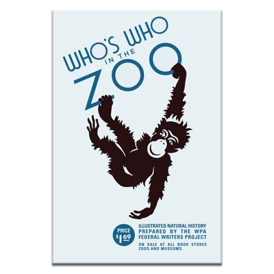 Artist Lane 'Zoo' Vintage Advertisement on Wrapped Canvas