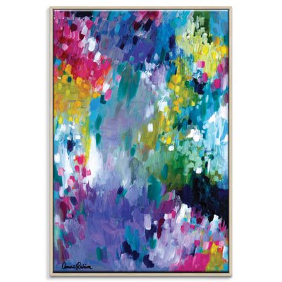 Artist Lane 'Dancing in the Rain' by Amira Rahim Framed Art Print on Wrapped Canvas