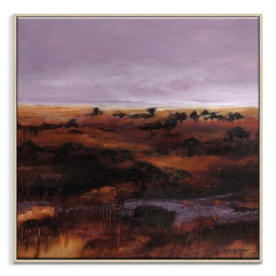 Artist Lane 'Lilac Lull' by Lydia Ben-Natan Framed Art Print on Wrapped Canvas