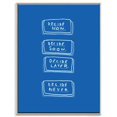Artist Lane 'Decide Buttons' by Steve Leadbeater Framed Typography on Wrapped Canvas