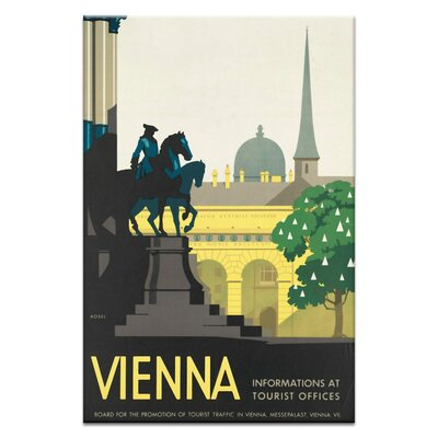 Artist Lane 'Vienna' Vintage Advertisement Wrapped on Canvas