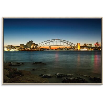 Artist Lane 'Harbour Night' by Andrew Paranavitana Photographic Print Wrapped on Canvas