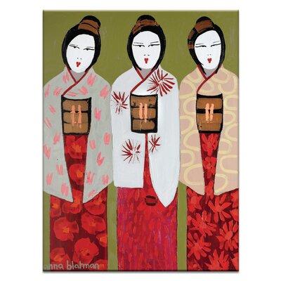Artist Lane 'We Three-1' by Anna Blatman Art Print on Wrapped Canvas