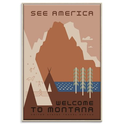 Artist Lane 'Montana' Vintage Advertisement Wrapped on Canvas