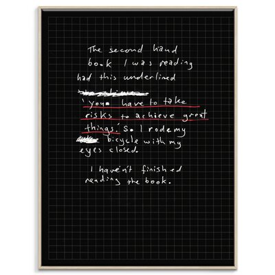 Artist Lane 'The Second Hand Book' by Steve Leadbeater Framed Typography on Wrapped Canvas
