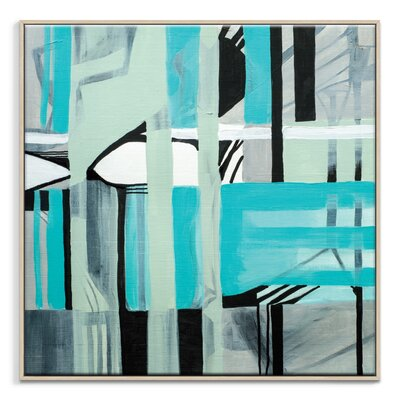 Artist Lane '141715' by Amanda Morie Framed Art Print on Wrapped Canvas