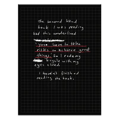 Artist Lane 'The Second Hand Book' by Steve Leadbeater Typography on Wrapped Canvas