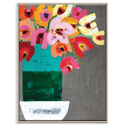 Artist Lane 'Rozy Pozy' by Anna Blatman Art Print Wrapped on Canvas
