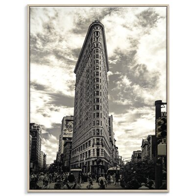 Artist Lane 'Flatiron' by Andrew Paranavitana Framed Photographic Print on Wrapped Canvas