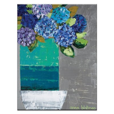 Artist Lane 'Nicole's Hydrangea Pot' by Anna Blatman Art Print on Wrapped Canvas