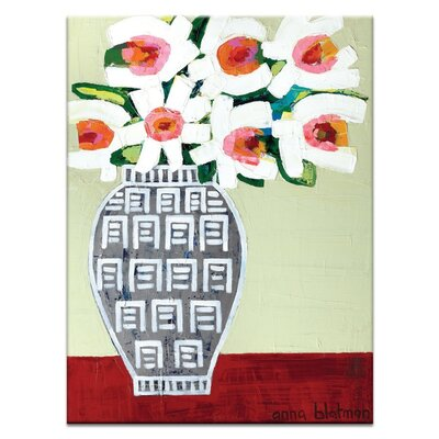 Artist Lane 'Ruth's Daisies' by Anna Blatman Art Print on Wrapped Canvas