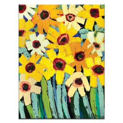 Artist Lane 'Rosy's Daisies' by Anna Blatman Art Print on Wrapped Canvas