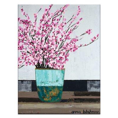 Artist Lane 'Danielle's Blossoms' by Anna Blatman Art Print Wrapped on Canvas