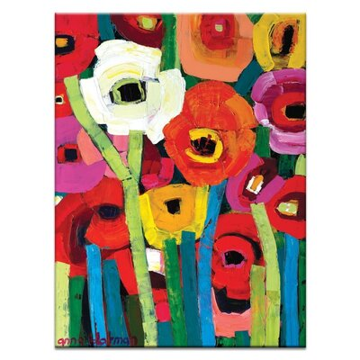 Artist Lane 'Anna's Poppies' by Anna Blatman Art Print on Wrapped Canvas