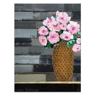 Artist Lane 'Flowers for Mother' by Anna Blatman Art Print on Wrapped Canvas