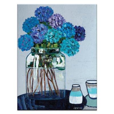 Artist Lane 'Daile's Hydrangeas' by Anna Blatman Art Print Wrapped on Canvas