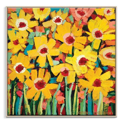 Artist Lane 'Jaya's daisies' by Anna Blatman Art Print Wrapped on Canvas