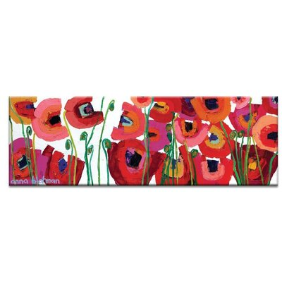 Artist Lane 'Betty's Blooms' by Anna Blatman Art Print Wrapped on Canvas