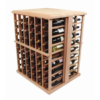 Designer Series 108 Bottle Floor Wine Rack Finish: Light, Wood Type: Premium Redwood