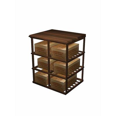 Designer Series 6 Case Double Deep 60 Bottle Floor Wine Rack Wood Type: Prime Mahogany, Finish: Dark Walnut