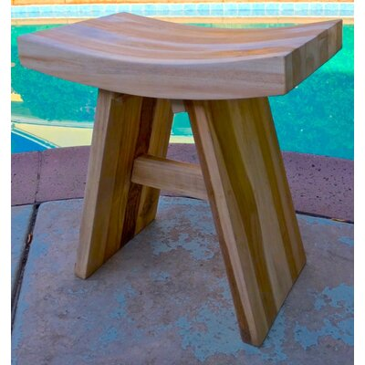 Teak Bathroom Vanity Shower Stool