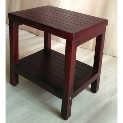 Teak Bathroom Shower Accent Stool