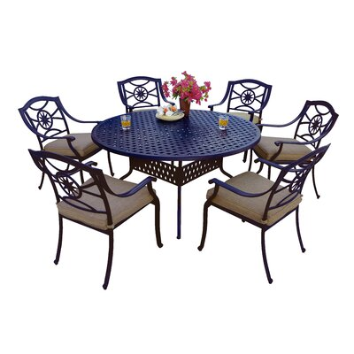 Thompsontown 7 Piece Dining Set with Cushions
