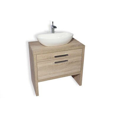 Malaga Ceramic Oval Vessel Bathroom Sink
