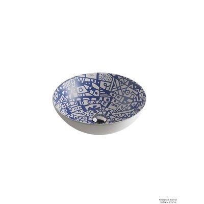 Sicilia Ceramic Circular Vessel Bathroom Sink