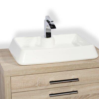 Galicia Ceramic Rectangular Vessel Bathroom Sink