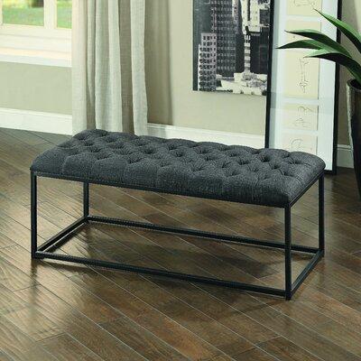 Laura Upholstered Bench Upholstery: Dark Gray