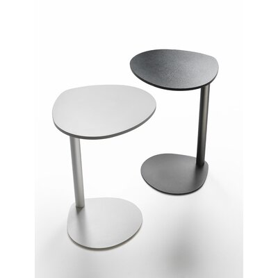 Burgan Pedestal Telephone Table (Set of 2) Color: Chrome