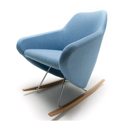 Taxido Rocking Chair Frame Color: Dark Walnut, Upholstery: Momentum Fuse Fabric Walnut