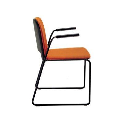 Lips Stacking Chair Outside Seat Finish: Black, Inside Seat Upholstery: Momentum Fuse Fabric Walnut, Frame Finish: Black
