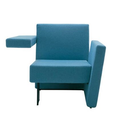Meet Me Vertical Arm Right and Horizontal Arm Left Arm Chair Upholstery: Momentum Fuse Fabric Cress